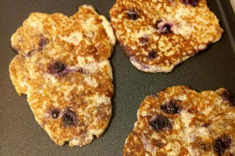 grain free blueberry pancakes