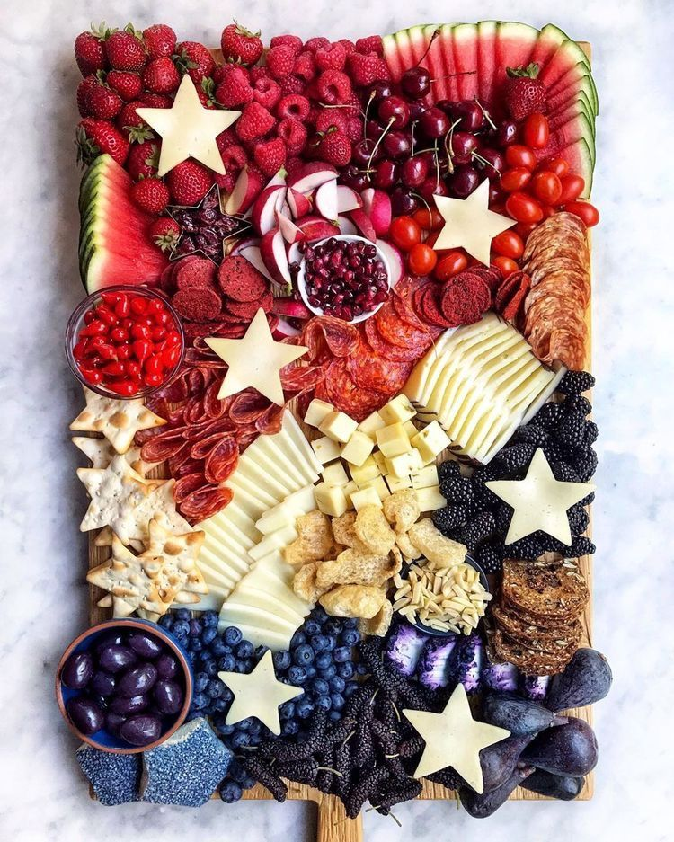 4th of july party charcuterie board