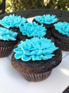 Baby Shower Teal Icing Cupcakes