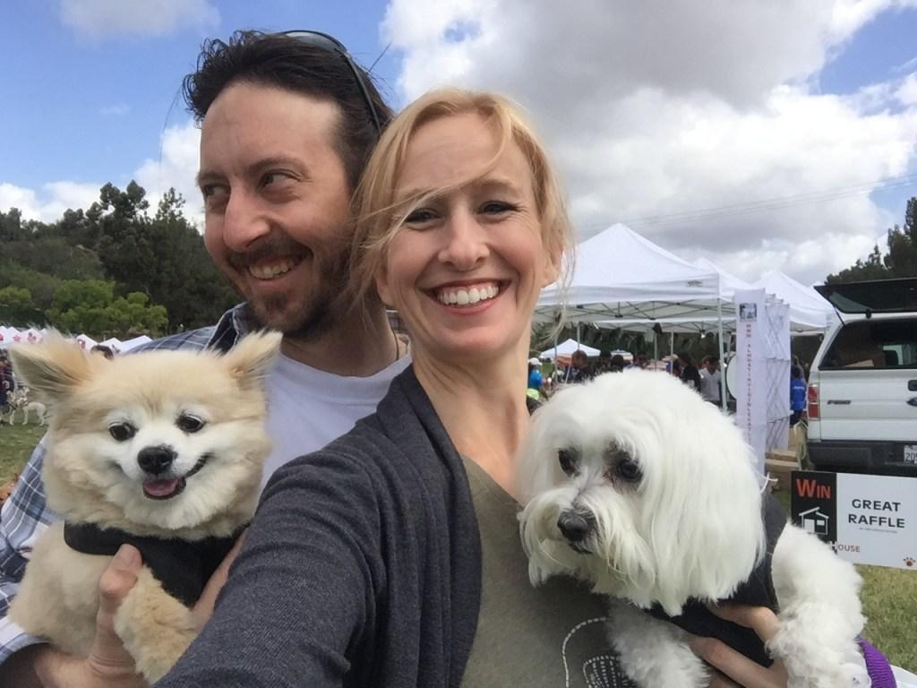 Kyle, Mandy, Sugar and Cashew at dog walk