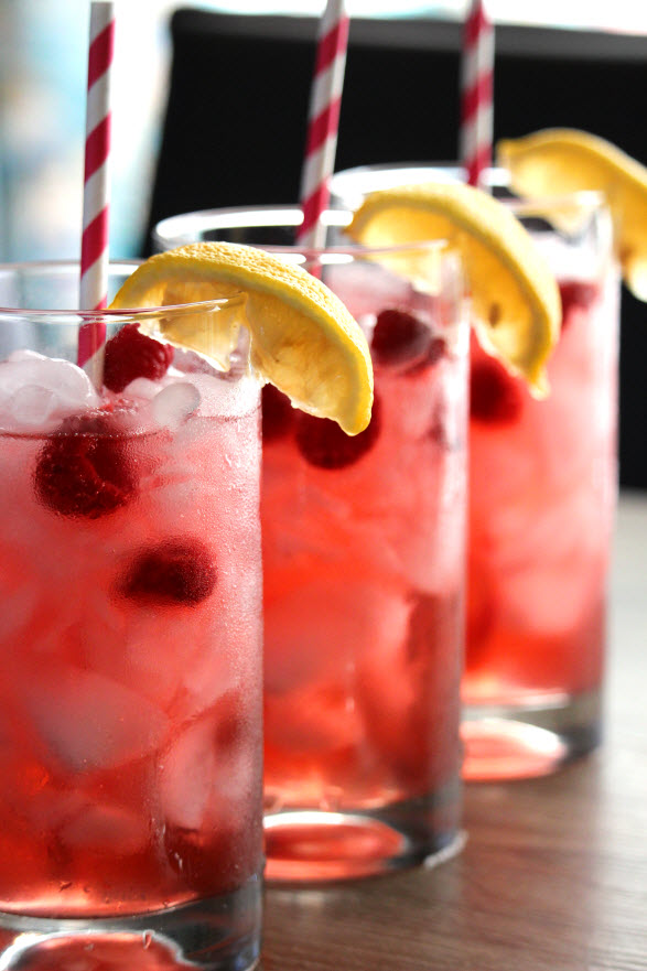 How to make Raspberry lemonade
