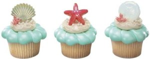 Sea Themed Cupcake Toppers