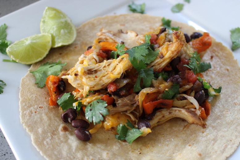 Southwest Fajita Chicken Tacos