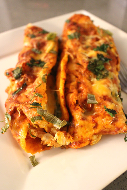 Authentic Chicken Cheese Enchiladas
