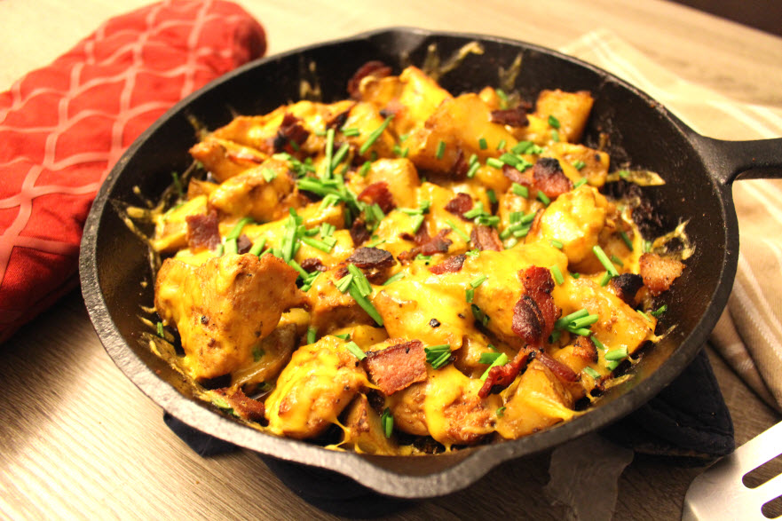 Chicken Potato Skins Skillet Dinner Recipe
