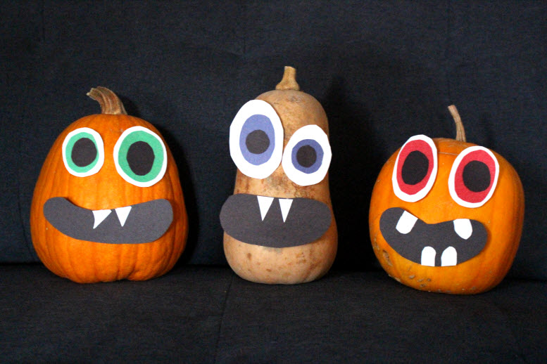 Ghouly Gourd Spooky Halloween Faces Craft