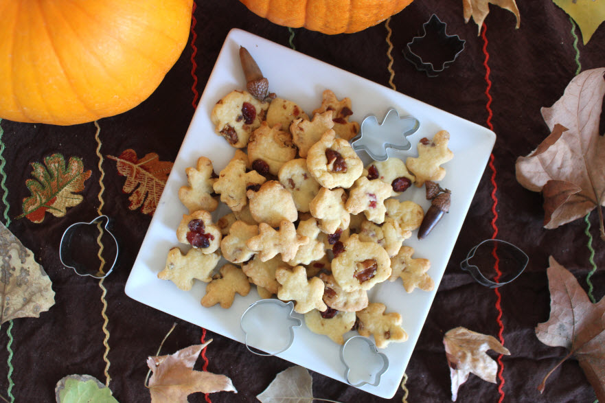 Fall holiday Pie crust cookies