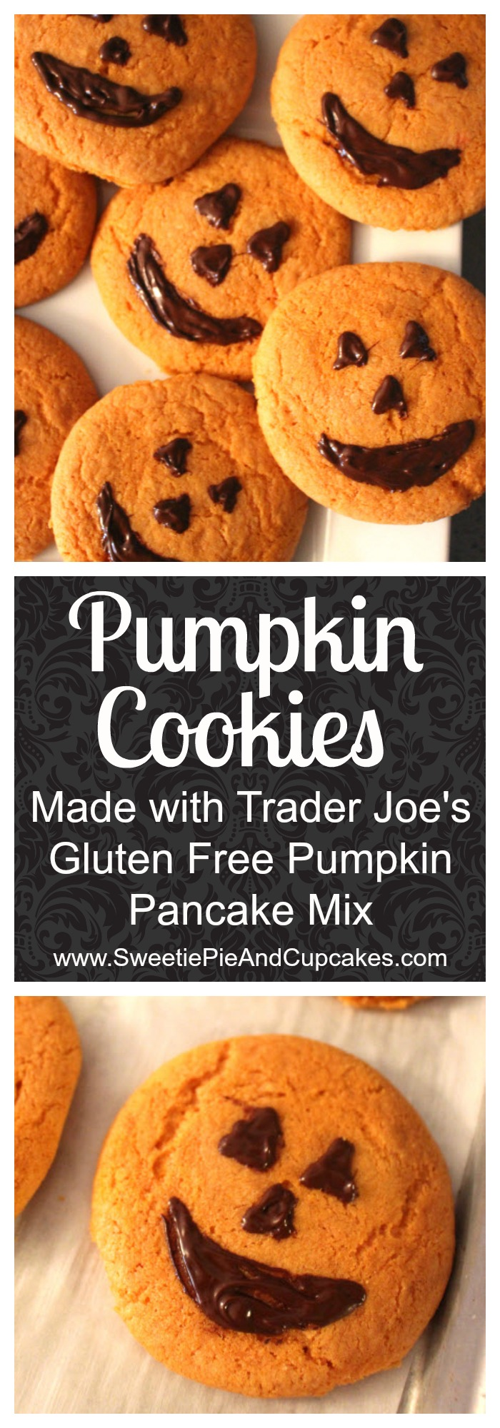 Gluten free pumpkin cookies perfect for healthy Halloween treat