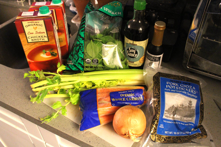 ingredients for potsticker soup