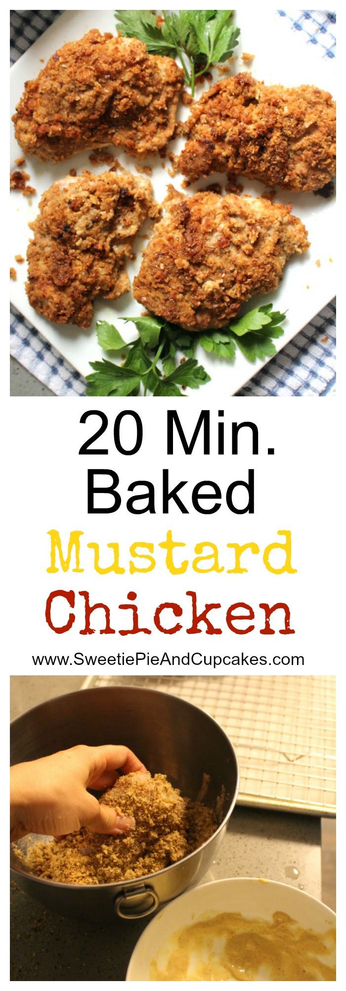 20 minute Baked Mustard Chicken