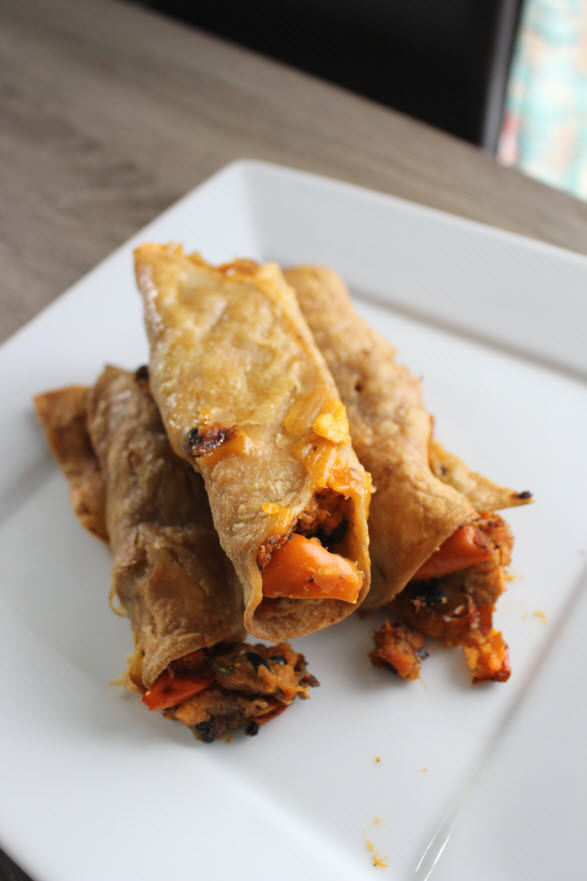 Easy Sweet Potato Taquitos Recipe