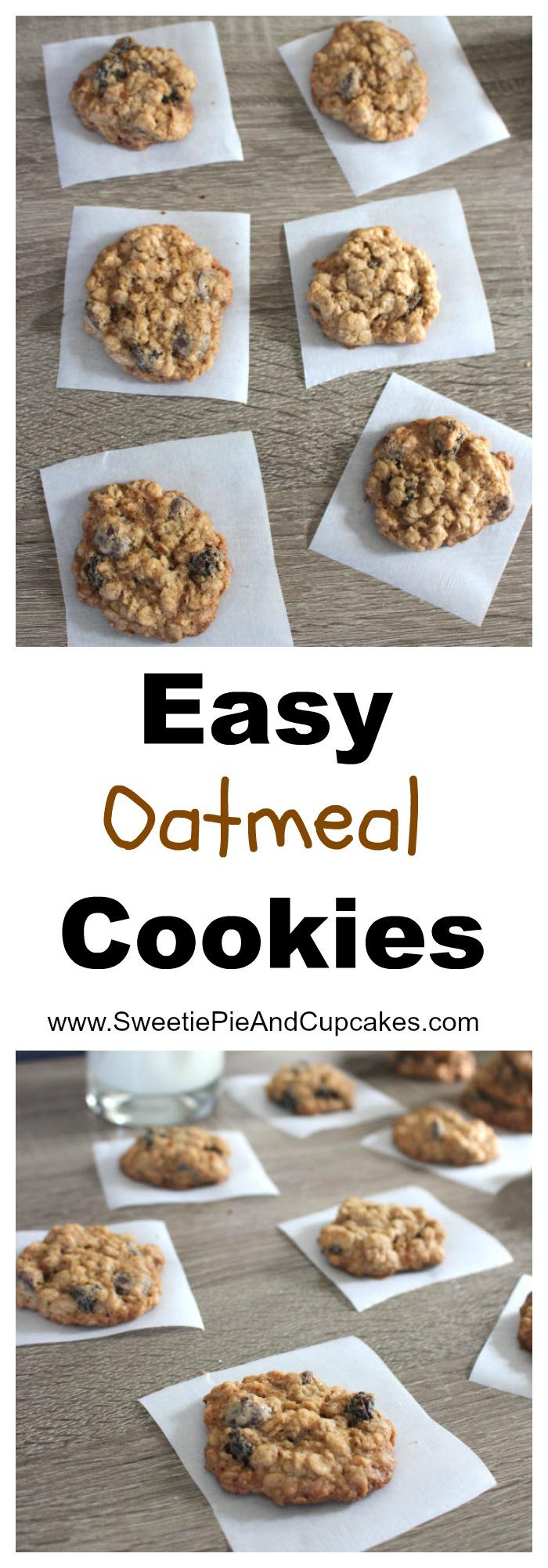 Easy Oatmeal Cookies Pin