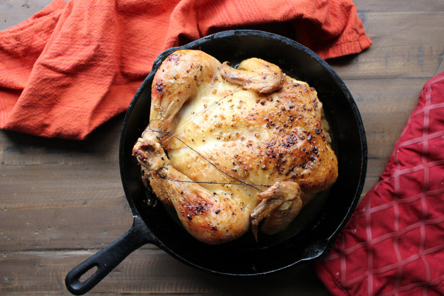 Easy Skillet Roasted Chicken