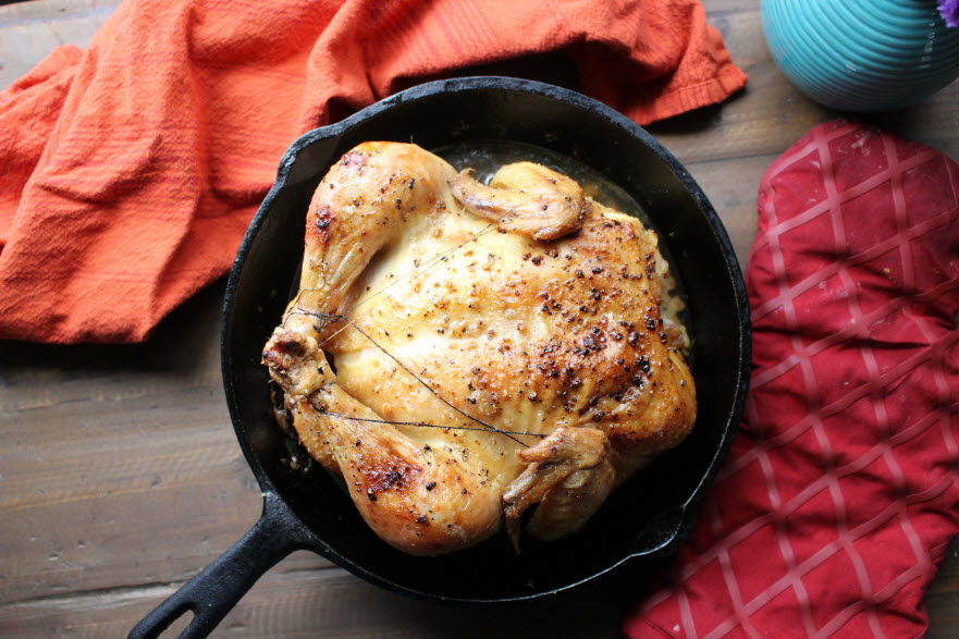 Easy Skillet Roasted Chicken Dinner