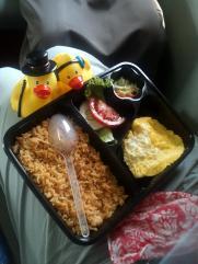 Notre repas dans le train