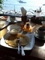 Petit-déj avec une sublime vu à l'hôtel