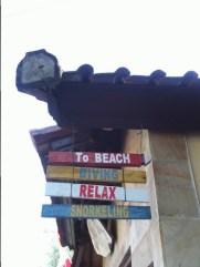 Accès à la plage depuis l'hôtel