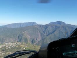 Paysage depuis l'hélicoptère