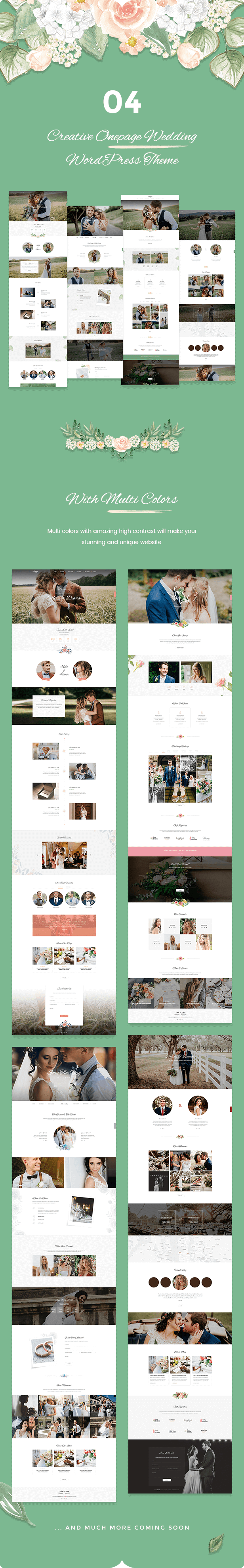 Sweetinz - Creative OnePage Wedding WordPress Theme
