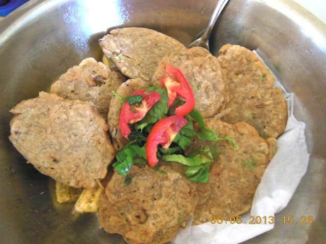 Jamaican food - Salt fish fritters
