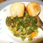 Steamed Callaloo ready to eat