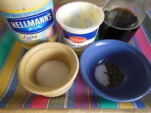 Jamaican Coleslaw Wet Ingredients