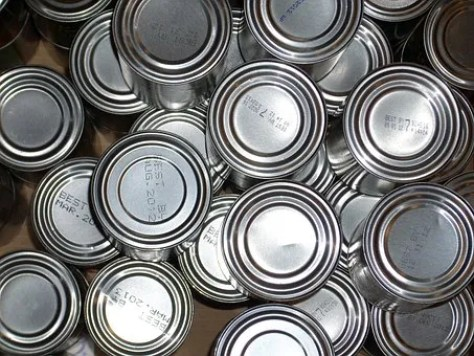 tinned cans