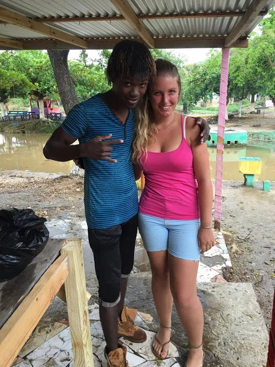 Caymanas River with a friend from Trench Town