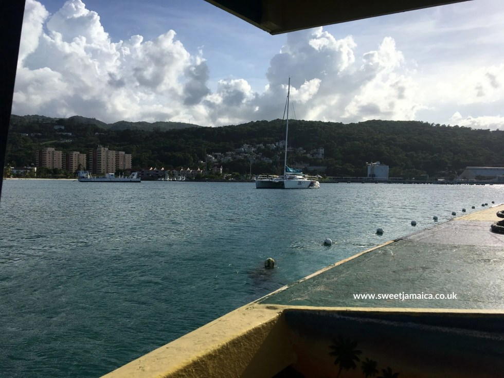 View from Night Vision Glass Bottom Boat Ocho Rios