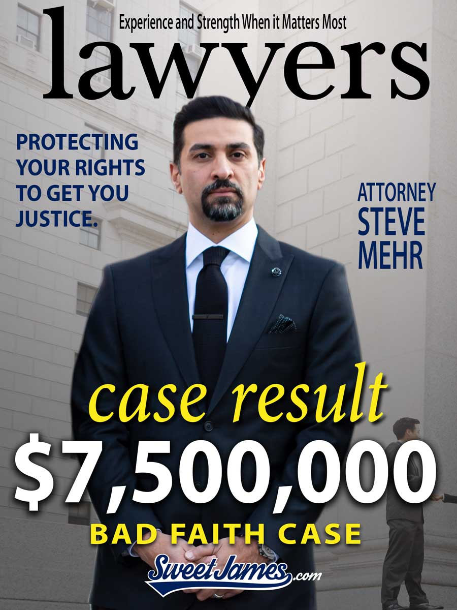 $7,500,000.00 Result against Major Insurance Company Acting in Bad Faith