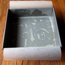 Line the tin with baking paper