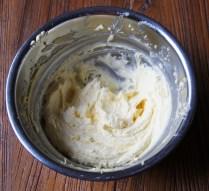 Beat butter+sugar till light & fluffy