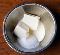 Cream cheese+cream+½ sugar