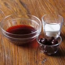 Juice+remaining sugar+cherries