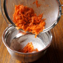 Add drained carrot mixture