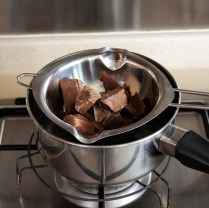 Chocolate over boiling water