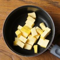Butter in saucepan, melt