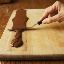 Spread choc evenly