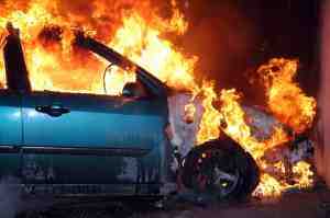 RICHMOND, CA - 2 Hurt in Fiery Crash at Richmond Parkway and Pittsburg Avenue