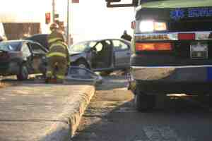 VALENCIA, CA - 1 Injured in Big Rig and Car Crash at Commerce Center Drive and Franklin Parkway