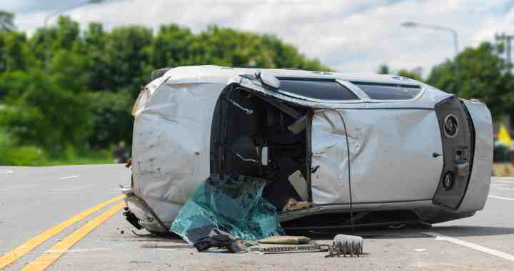 Woman Hospitalized after Rollover Car Crash near Highway 41