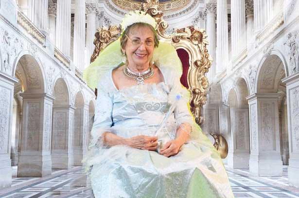 Queenie Weenie Bunny Foot on her throne