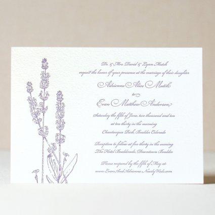 Lavender Wedding Invitation 4 00
