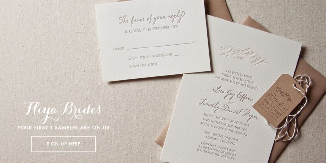 Sweet Letterpress Design Wedding Invitations