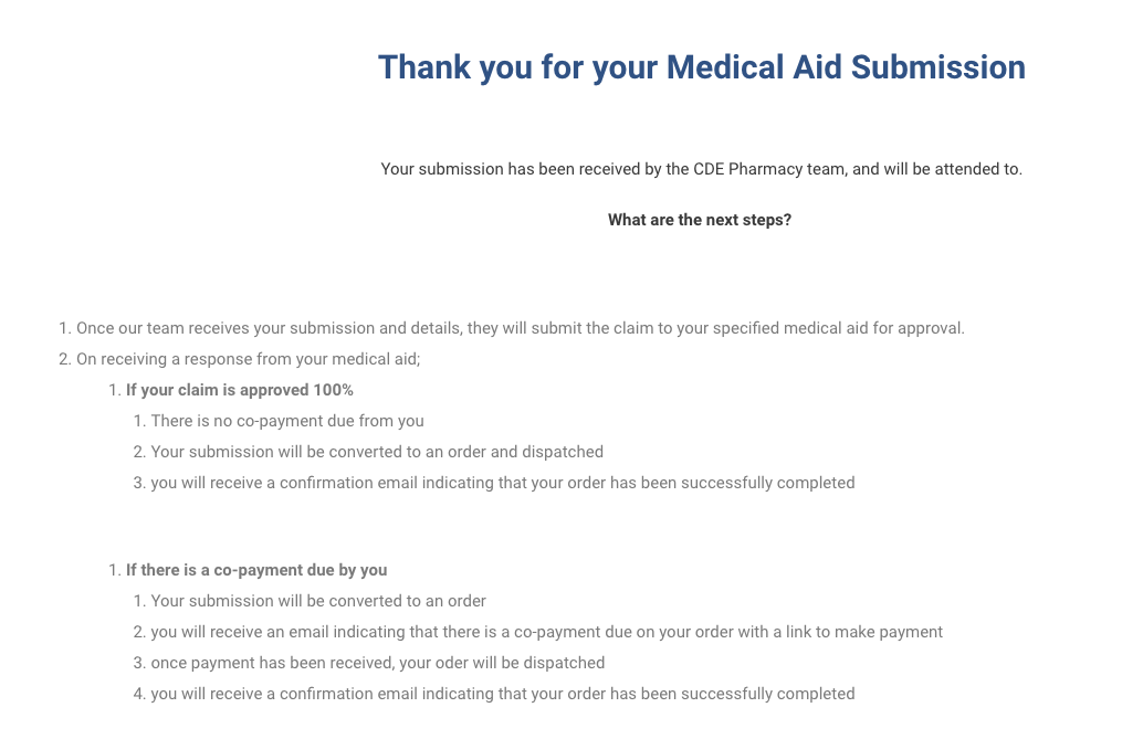 discovery cgm benefit medical aid submission success