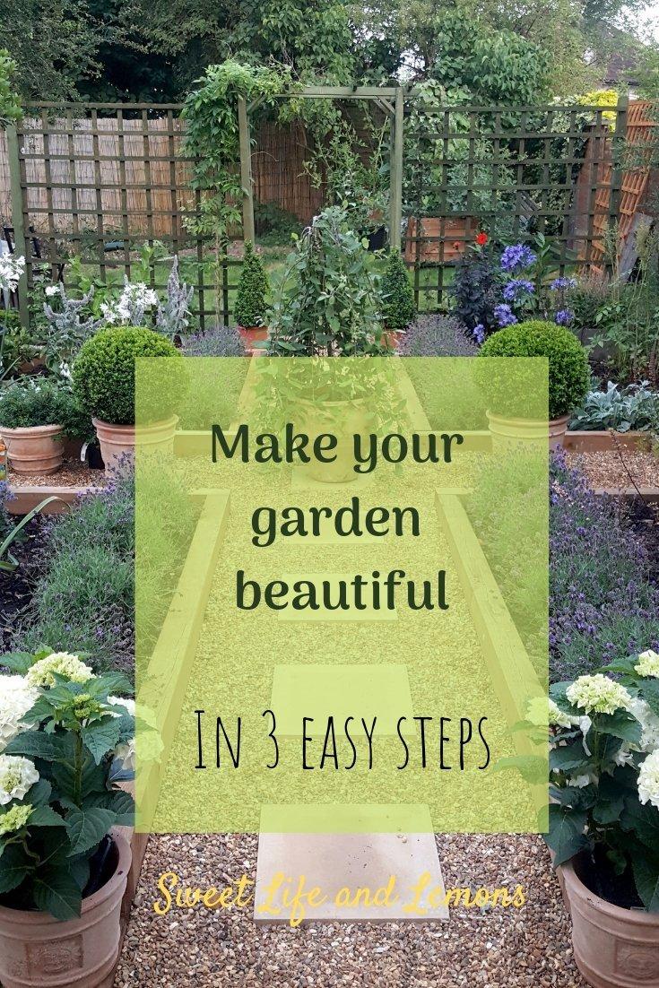 make your garden beautiful