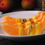 Melon con Crema de Mango
