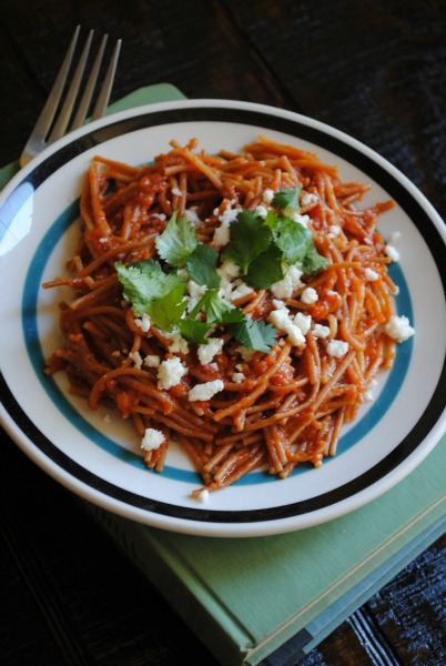 sopa seca de fideo, fideo, lent recipe