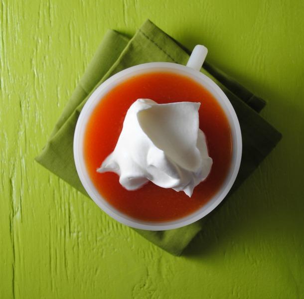 Papaya Mimosas with Jell-O