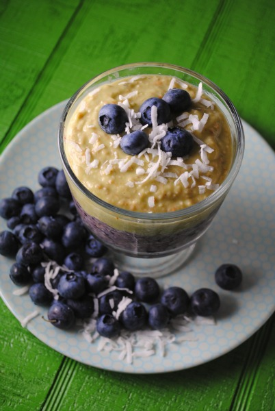 Avocado-Blueberry-Coconut Oatmeal Smoothie